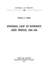 Synodal Law in Florence and Fiesole, 1306-1518
