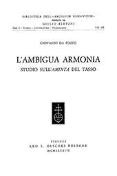 L'ambigua armonia : studio sull'Aminta del Tasso - Da Pozzo, Giovanni - Firenze : L.S. Olschki, 1983.