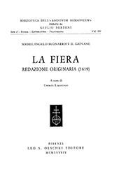La fiera : redazione originaria (1619) - Limentani, Uberto - Firenze : L.S. Olschki, 1984.