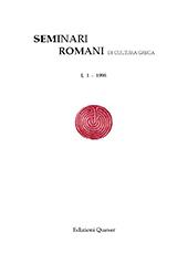 Seminari romani di cultura greca