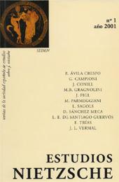 Estudios Nietzsche : revista de la Sociedad Española de Estudios sobre Friedrich Nietzsche