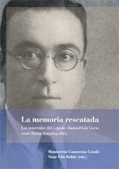 La memoria rescatada : los materiales del legado Samuel Gili Gaya como fuente historiográfica