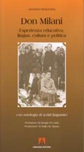Don Milani : esperienza educativa, lingua, cultura e politica