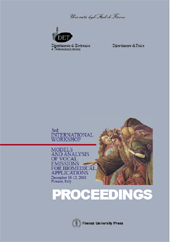 Models and analysis of vocal emissions for biomedical applications : 3rd International workshop ... - Manfredi, Claudia - Firenze : Firenze University Press, 2003.