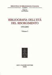 Bibliografia dell'età del Risorgimento : 1970-2001