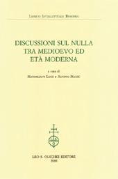 Discussioni sul nulla tra Medioevo ed età moderna