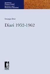 Diari 1952-1962 - Dessí, Giuseppe - Firenze : Firenze University Press, 2011.