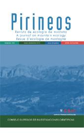 Pirineos : revista de ecología de montaña