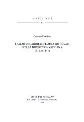 I salmi di Gabriele Fiamma ritrovati nella Biblioteca vaticana (R.I.IV. 447)
