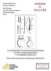 La gestación de los paisajes rurales entre la protohistoria y el período romano : formas de asentamiento y procesos de implantación