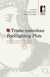 """Trame controluce : il patriarca protestante Cirillo Loukaris = Blacklighting plots : the """"protestant"""" patriarch Cirillo Loukaris - Nosilia, Viviana, editor - Firenze : Firenze University Press, 2015."""