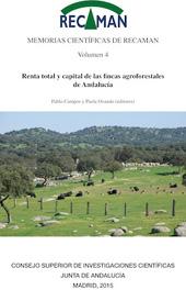 Memorias científicas de RECAMAN : vol. 4 :  renta total y capital de las fincas agroforestales de Andalucía