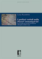 I prefissi verbali nella Povest' vremennych let : per un'analisi del processo di formazione  dell'aspetto verbale in russo