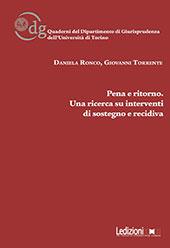 Pena e ritorno : una ricerca su interventi di sostegno e recidiva
