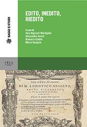 Edito, inedito, riedito : saggi dall'XI Congresso degli italianisti scandinavi, Università del Dalarna - Falun, 9-11 giugno 2016