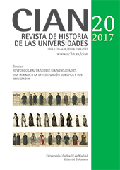 CIAN : revista de historia de las universidades.