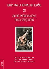 Textos para la historia del español -  - Alcalá : Universidad de Alcalá, 2018.