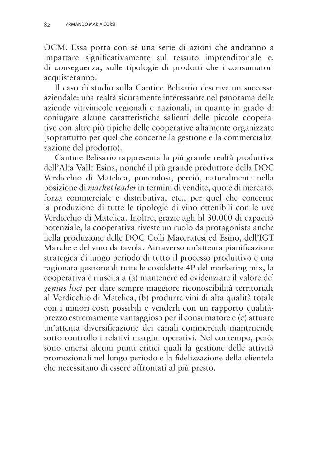 Produzioni agroalimentari di qualità e strategie competitive nel territorio marchigiano : casi di studio - [Cavicchi, Alessio, editor, Corinto, Gian Luigi, editor] - [Macerata : EUM-Edizioni Università di Macerata, 2010.]