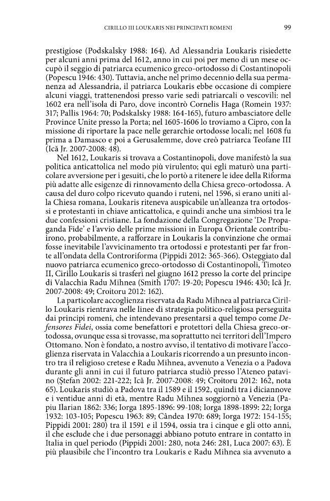 """Trame controluce : il patriarca protestante Cirillo Loukaris = Blacklighting plots : the """"protestant"""" patriarch Cirillo Loukaris - [Nosilia, Viviana, editor, Prandoni, Marco, editor] - [Firenze : Firenze University Press, 2015.]"""